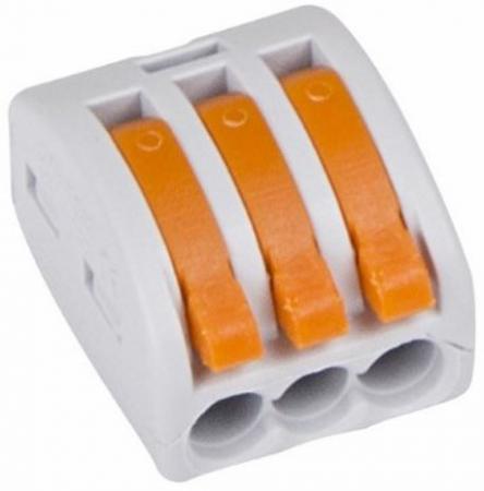 Универсальная многоразовая 3-проводная клемма (0,08-2,5 (4) мм?) PROCONNECT Индивидуальная упаковка 3 шт