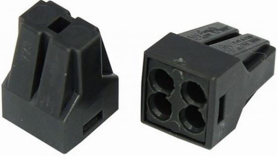 Соединительная клемма с пастой, 4-х проводная до 2,5 мм?, (10шт.) REXANT клемма аккумулятора к т 12 24в до 600а vettler