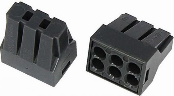 Соединительная клемма с пастой, 6-и проводная до 2,5 мм?, (10шт.) REXANT