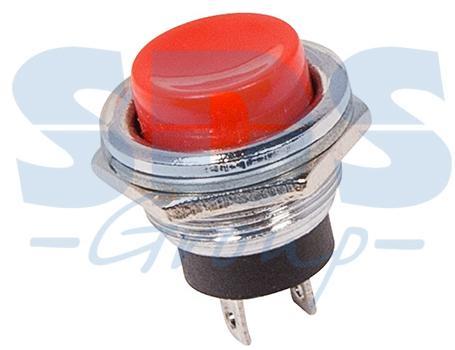Выключатель-кнопка металл 220V 2А (2с) (ON)-OFF O16.2 красная (RWD-306) REXANT