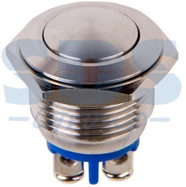 Кнопка антивандальная O16 Б/Фикс (2c винт) (ON)-OFF сфера (A16-A2) REXANT (блистер)