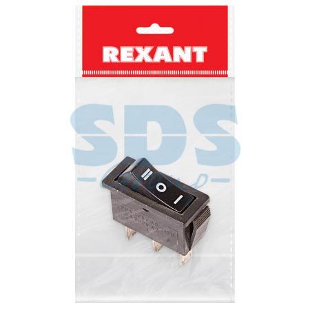 Выключатель клавишный 250V 10А (3с) ON-OFF-ON черный с нейтралью (RWB-411, SC-791) REXANT Индивидуальная упаковка 1 шт hands free black 1 7m cable stomp foot pedal on off switch ac 250v 10a tfs 1