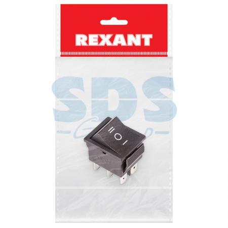 Выключатель клавишный 250V 15А (6с) ON-OFF-ON черный с нейтралью (RWB-508, SC-767) REXANT Индивидуальная упаковка 1 шт hands free black 1 7m cable stomp foot pedal on off switch ac 250v 10a tfs 1