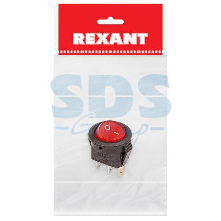 Выключатель клавишный круглый 250V 3А (3с) ON-OFF красный с подсветкой Micro (RWB-106, SC-214) REXANT Индивидуальная упаковка 1 шт каска petzl pezl boreo малиновый s m