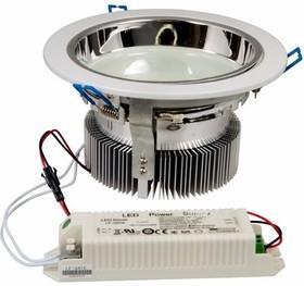 Светильник светодиодный Downlight, встраиваемый, мощность 20W, 312 SMD 3528 светодиода, напряжение 220V, размер 180* 95(d=120mm), IP23, цвет светодиодов нейтральный белый (4500-5000 К) jrled waterproof 30w 900lm 180 3528 smd led rgb light strip white ac 220v 3m
