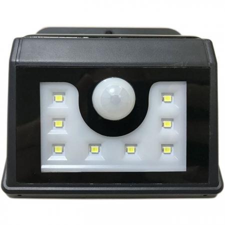LED светильник настенный на солнечных батареях с датчиком движения и освещенности (фотореле), 8 LED 602-210 yeelight ночник светодиодный заряжаемый с датчиком движения
