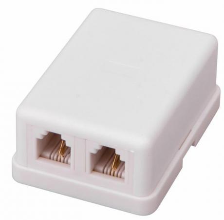 Телефонная розетка - 2 6P-2C PROCONNECT 3eb10047 2c