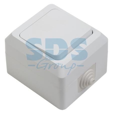 цена на Выключатель одноклавишный влагозащищенный открытой установки, 10 А, IP 44 PROCONNECT