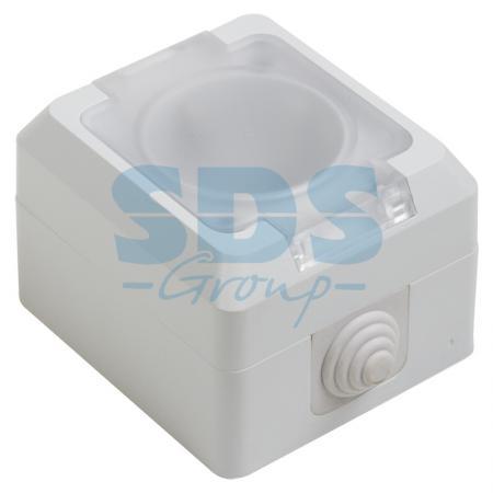 цена на Розетка штепсельная влагозащищенная открытой установки, с крышкой, c\\з,10 А,IP 44 PROCONNECT