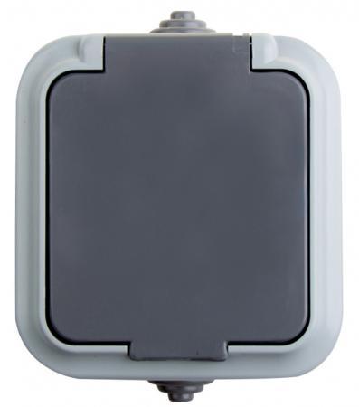 Розетка штепсельная влагозащищенная открытой установки Rexant IP 54, без заземления,16 А