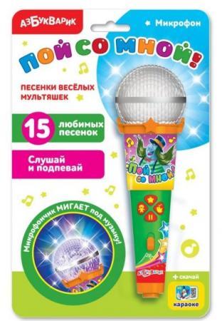 Фото - Микрофон Песенки веселых мультяшек с огоньками азбука мультяшек