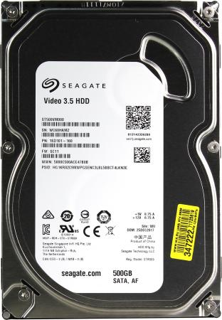 Жесткий диск 3.5 500 Gb 5900rpm 64Mb cache Seagate Video SATA III 6 Gb/s ST500VM000 кеды dali кеды на танкетке платформе