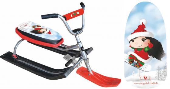 Снегокат БАРС 118 Dream Team до 100 кг металл пластик красный цена