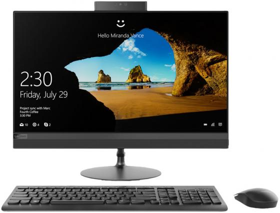 Моноблок Lenovo IdeaCentre 520-22IKU 21.5 Full HD i3 7020U (2.3)/4Gb/1Tb 7.2k/Optane16Gb/DVDRW/Windows 10/GbitEth/WiFi/BT/клавиатура/мышь/Cam/черный 1920x1080 моноблок lenovo ideacentre aio910 27ish