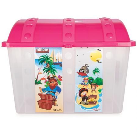 Контейнер для игрушек Pilsan Сундук розовый контейнер для игрушек pilsan сундук розовый 06 189