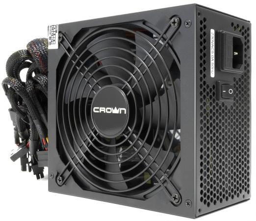 Блок питания ATX 750 Вт Crown CM-PS750W PRO блок питания atx 750 вт aerocool vp 750