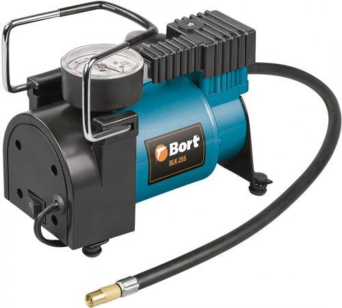 Bort BLK-255 Компрессор автомобильный [91271105] { 25 л/мин, 7 бар, 12 В, 150 Вт, 5000 об/мин, 1.6 кг, набор аксессуаров 6 шт } компрессор bort blk 251n