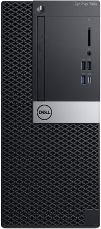 Купить ПК Dell Optiplex 7060 MT i5 8500 (3)/8Gb/1Tb 7.2k/UHDG 630/DVDRW/Windows 10 Professional/GbitEth/2000W/клавиатура/мышь/черный/серебристый, Системный блок, Черный, Серебристый