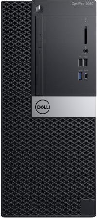 Купить ПК Dell Optiplex 7060 MT i7 8700 (3.2)/8Gb/1Tb 7.2k/RX 550 4Gb/DVDRW/Windows 10 Professional/GbitEth/200W/клавиатура/мышь/черный/серебристый, Системный блок, Черный, Серебристый