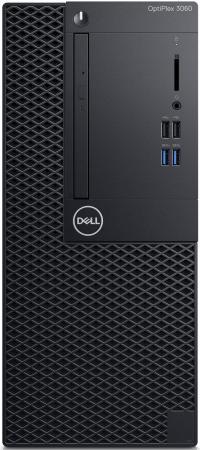 ПК Dell Optiplex 3060 MT i5 8500 (3)/8Gb/1Tb 7.2k/UHDG 630/DVDRW/Windows 10 Professional/GbitEth/260W/клавиатура/мышь/черный пк dell optiplex 5050 mt i5 6400 2 7 8gb 1tb 7 2k hdg530 dvdrw windows 10 professional gbiteth 240w клавиатура мышь черный серебристый