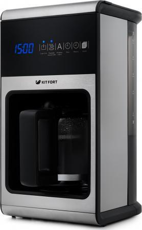Кофеварка KITFORT 714-КТ 1150 Вт черный кофеварка kitfort кт 704 2 черная