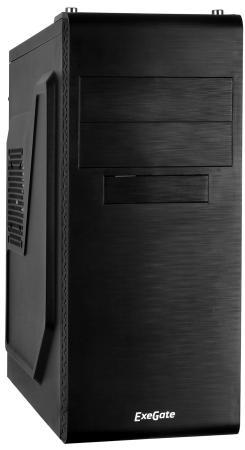 Купить Exegate EX269434RUS Корпус Miditower UN-603 Black, ATX, <без БП> 2*USB, Audio, Сталь