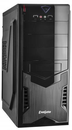 Купить Exegate EX261447RUS Корпус Miditower CP-601 Black, ATX, <без БП>, 2*USB, Audio, Сталь