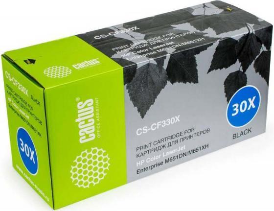 Тонер Картридж Cactus CS-CF330XV черный (20500стр.) для HP CLJ M651dn/M651n/M651xh тонер картридж cactus cs cf332av желтый 15000стр для hp clj m651dn m651n m651xh