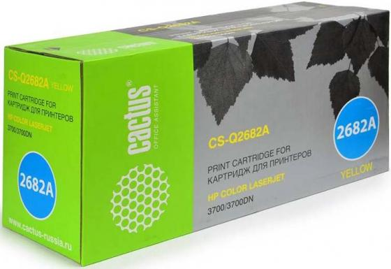 Тонер Картридж Cactus CS-Q2682AV желтый (6000стр.) для HP CLJ 3700 тонер картридж cactus cs q7583a пурпурный для hp clj cp3505 3800 6000стр