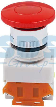 Выключатель-кнопка 10А ON-ON O22 красная Грибок REXANT