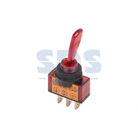Тумблер 24V 20А (3c) ON-OFF однополюсный с красной подсветкой REXANT