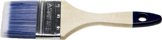 """Кисть плоская STAYER """"AQUA-STANDARD"""", искусственная щетина, деревянная ручка, 75мм[01032-075] кисть плоская 75х20 мм искусственная щетина прорезиненная ручка anza профи"""
