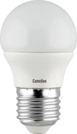 купить Лампа светодиодная шар Camelion LED7-G45 E27 7W 4500K по цене 85 рублей