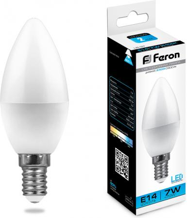 Лампа светодиодная FERON 25477 (7W) 230V E14 6400K, LB-97