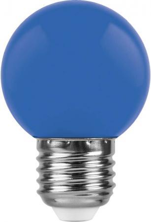 Лампа светодиодная FERON 25118 (1W) 230V E27 синий, LB-37 лампа feron green de1708