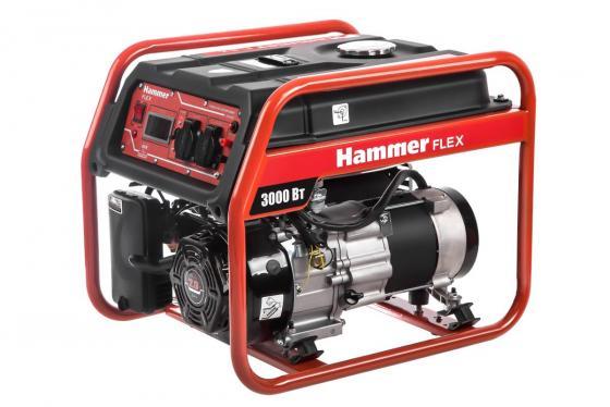 Бензоэлектростанция Hammer Flex GN3000 3КВт 220В 50Гц бак 10л непр.9ч бензоэлектростанция инверторная dde dpg1101i 0 9квт 220в бак 2 6л непрер 5ч