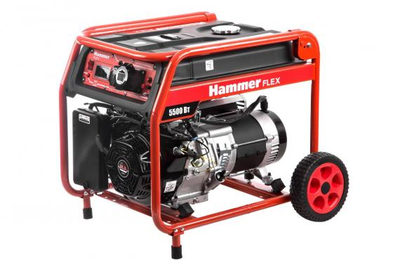 Бензоэлектростанция Hammer Flex GN6000T 5.5КВт 220В 50Гц бак 33л непр.9ч бензоэлектростанция инверторная dde dpg1101i 0 9квт 220в бак 2 6л непрер 5ч
