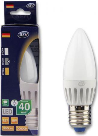 Лампа светодиодная свеча Rev ritter 32274 0 E27 5W 4000K