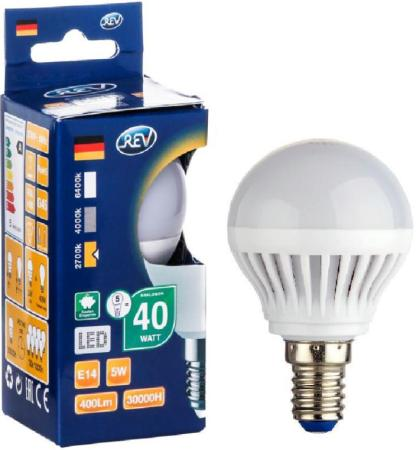 купить Лампа светодиодная шар Rev ritter 32260 3 E14 5W 2700K по цене 55 рублей