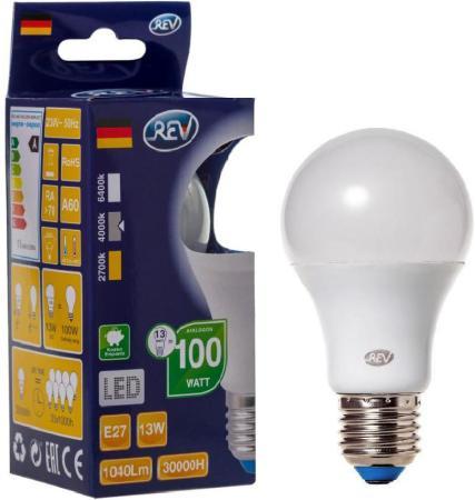 Лампа светодиодная шар Rev ritter 32268 9 E27 13W 4000K таймер rev ritter 05161 9