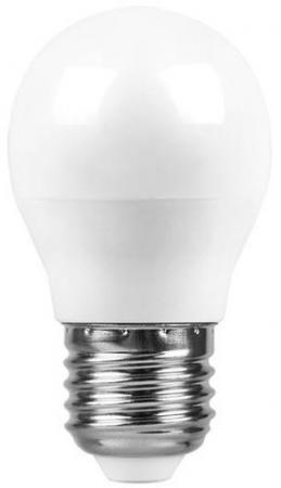 Лампа светодиодная SAFFIT 55036 7W 230V E27 2700K, SBG4507 лампа светодиодная шар saffit sbg4507 e27 7w 4000k 55037