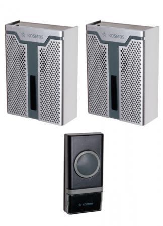 Звонок беспроводной КОСМОС KOC_AG520C1 32 мелодии, 150м, белый звонок дверной беспроводной космос ag512c черный