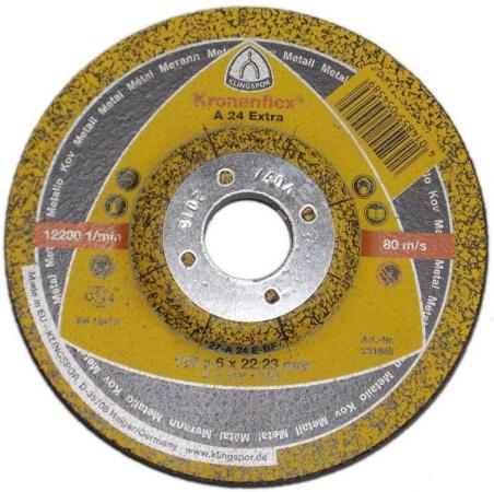 Зачистной круг 125 X 6 X 22 Круг обдир. KLINGSPOR Kronenflex A 24 EXTRA (328782) пл-выпукл.по металлу цена за 1шт