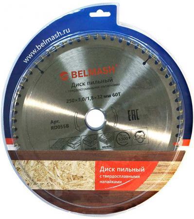 Диск пильный твердосплавный БЕЛМАШ 250х3.0/1.8х32мм 60Т по ламинату диск пильный твердосплавный malco mccb7