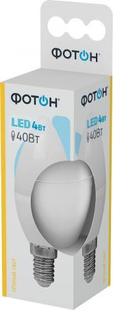 Лампа светодиодная ФОТОН B35 4W E14 3000K лампа светодиодная колба онлайт 388151 gu5 3 7w 3000k