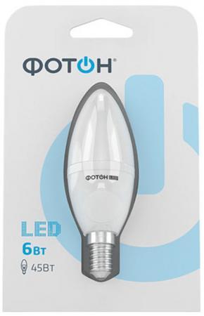Лампа светодиодная ФОТОН B35 6W E14 3000K лампа светодиодная колба онлайт 388151 gu5 3 7w 3000k