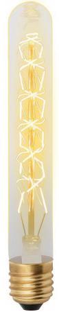 Лампа накаливания UNIEL VINTAGE IL-V-L28A-60/GOLDEN/E27 CW01 E27 60Вт колбаL28A форма нитиCW01 equte epew21c3 vintage loop golden bowknot ear studs multicolored pair