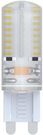 Лампа светодиодная VOLPE LED-JCD-2,5W/WW/G9/CL/S G9 2.5Вт с силиконовым покрытием теплый белый лампа светодиодная диммируемая 10709 g9 4w 4500k капсульная белая led jcd 4w nw g9 cl dim siz03tr