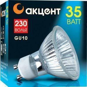 Лампа галогенная АКЦЕНТ JCDRC 230В 35W GU10 с отражателем и защитным стеклом цена 2017