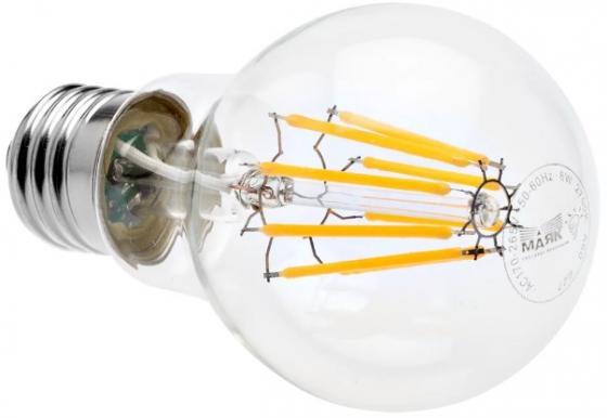 Лампа светодиодная груша Маяк LED-A60F/8W/2700 E27 8W 2700K new professional mini 5v 8w led